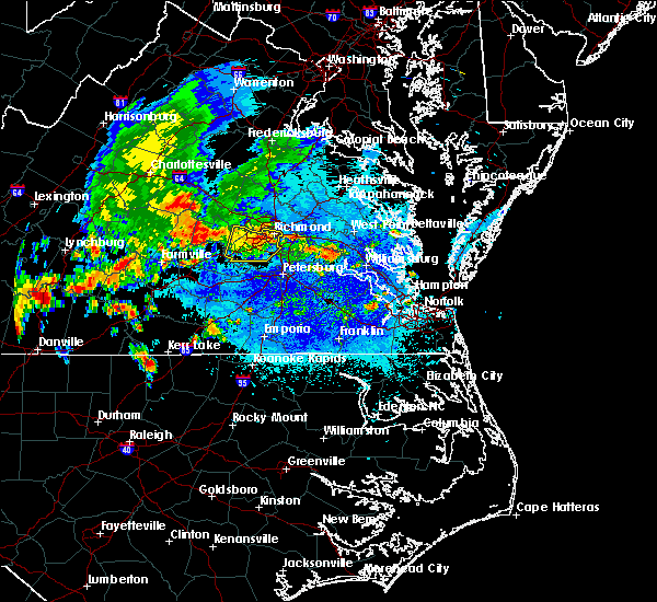 Radar Image for Severe Thunderstorms near Manchester, VA at 8/30/2018 8:28 PM EDT