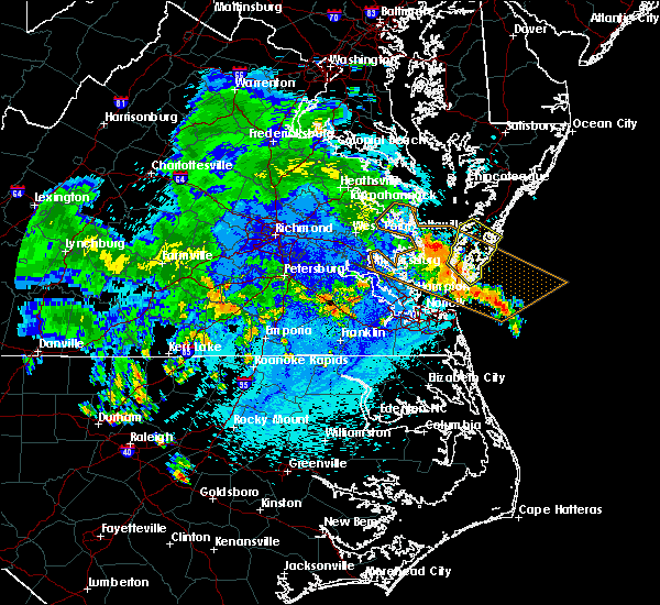 Radar Image for Severe Thunderstorms near Belle Haven, VA at 8/30/2018 10:52 PM EDT