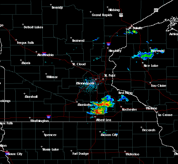 Radar Image for Severe Thunderstorms near Blooming Prairie, MN at 8/31/2018 7:44 AM CDT