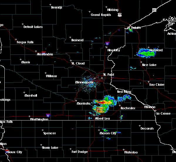 Radar Image for Severe Thunderstorms near Blooming Prairie, MN at 8/31/2018 7:57 AM CDT