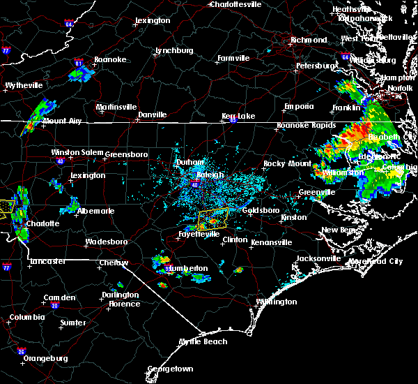 Radar Image for Severe Thunderstorms near Falcon, NC at 8/31/2018 6:34 PM EDT