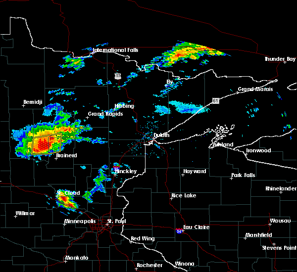 Radar Image for Severe Thunderstorms near Pequot Lakes, MN at 8/31/2018 6:39 PM CDT