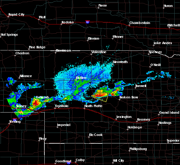 Radar Image for Severe Thunderstorms near Arnold, NE at 8/31/2018 6:45 PM CDT