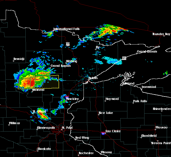 Radar Image for Severe Thunderstorms near Merrifield, MN at 8/31/2018 6:48 PM CDT