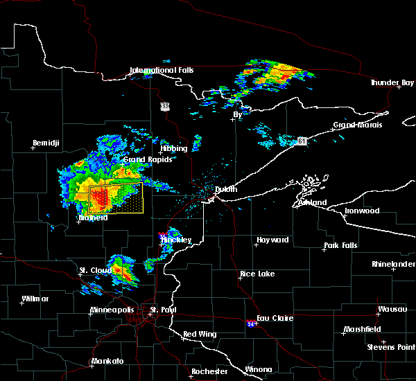 Radar Image for Severe Thunderstorms near Palisade, MN at 8/31/2018 7:07 PM CDT
