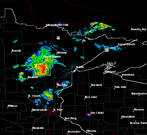Radar Image for Severe Thunderstorms near Palisade, MN at 8/31/2018 7:24 PM CDT