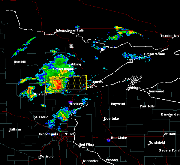 Radar Image for Severe Thunderstorms near Esko, MN at 8/31/2018 7:31 PM CDT