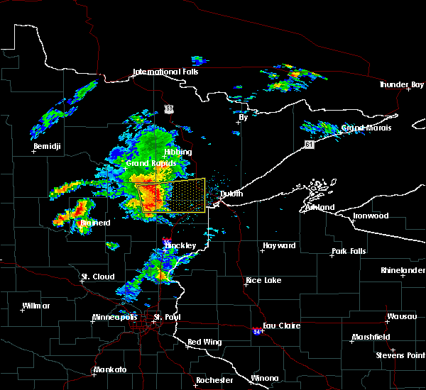 Radar Image for Severe Thunderstorms near Esko, MN at 8/31/2018 7:43 PM CDT