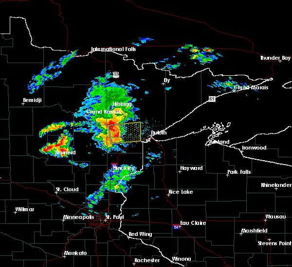 Radar Image for Severe Thunderstorms near Esko, MN at 8/31/2018 7:55 PM CDT
