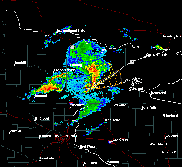 Radar Image for Severe Thunderstorms near Duluth, MN at 8/31/2018 8:38 PM CDT
