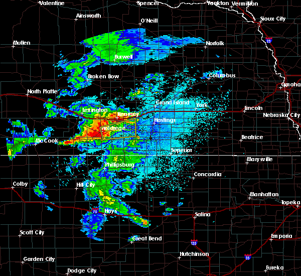Radar Image for Severe Thunderstorms near Funk, NE at 9/1/2018 12:58 AM CDT