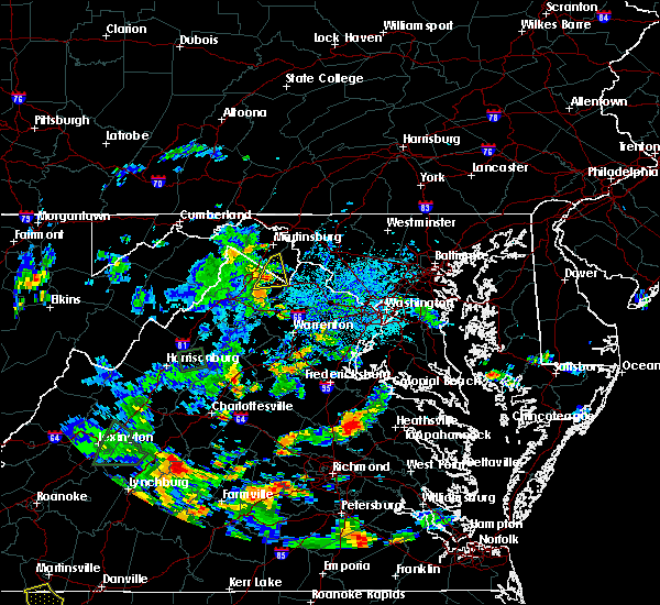 Radar Image for Severe Thunderstorms near Charles Town, WV at 9/1/2018 4:50 PM EDT