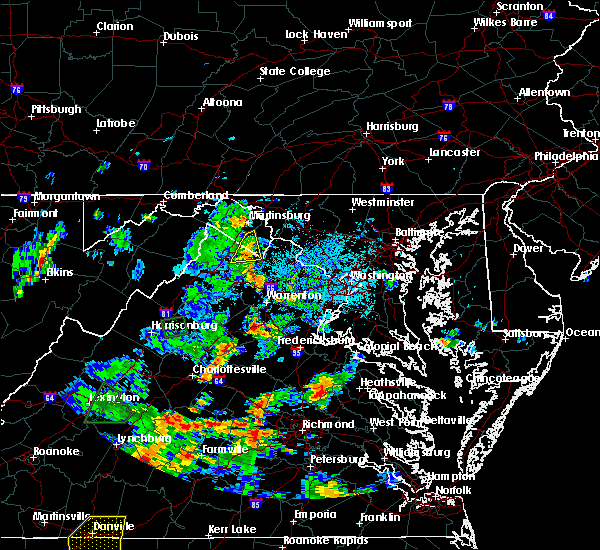 Radar Image for Severe Thunderstorms near Charles Town, WV at 9/1/2018 5:11 PM EDT