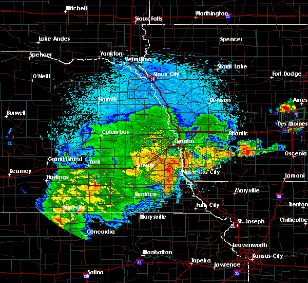 Radar Image for Severe Thunderstorms near Woodland Hills, NE at 9/1/2018 9:54 PM CDT
