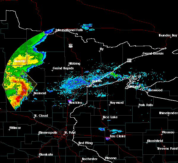Radar Image for Severe Thunderstorms near Pequot Lakes, MN at 9/2/2018 6:25 AM CDT