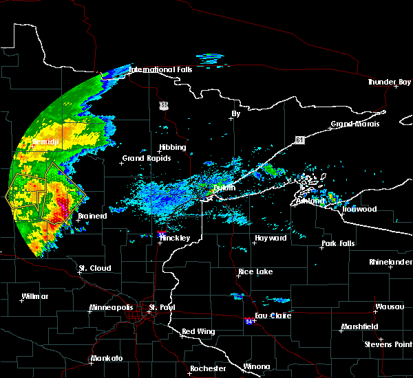Radar Image for Severe Thunderstorms near Pequot Lakes, MN at 9/2/2018 6:37 AM CDT