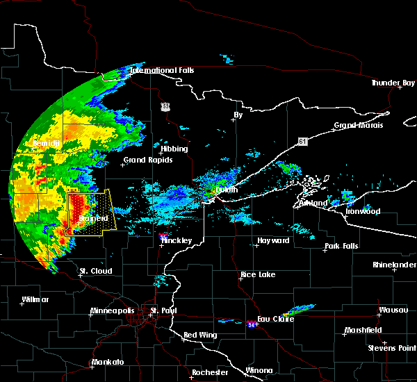 Radar Image for Severe Thunderstorms near Pequot Lakes, MN at 9/2/2018 6:50 AM CDT