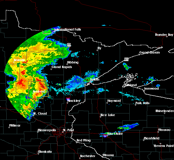 Radar Image for Severe Thunderstorms near Pequot Lakes, MN at 9/2/2018 7:14 AM CDT