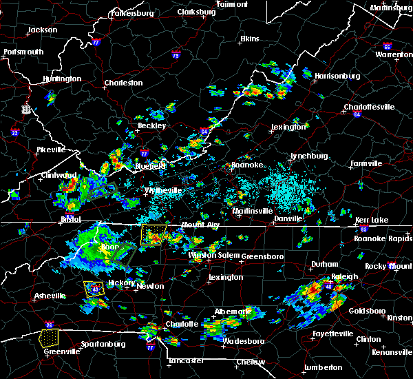 Radar Image for Severe Thunderstorms near Lowgap, NC at 9/2/2018 4:58 PM EDT