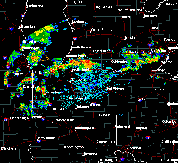 Radar Image for Severe Thunderstorms near Dowagiac, MI at 9/3/2018 4:10 PM EDT