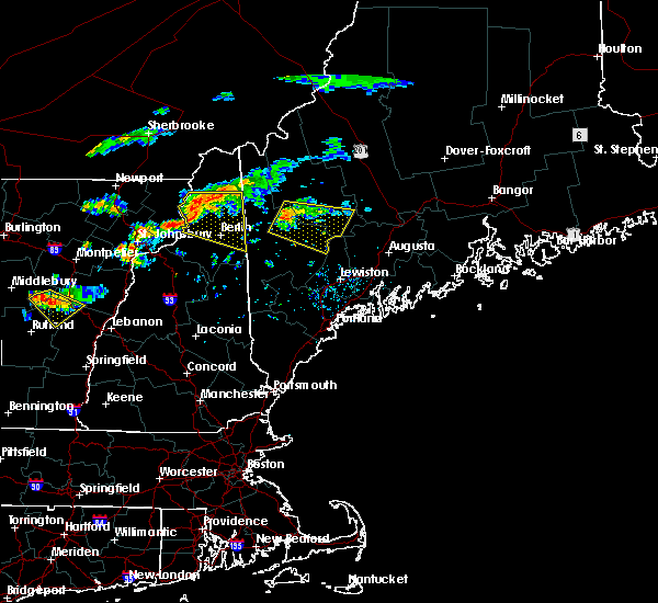 Radar Image for Severe Thunderstorms near Berlin, NH at 9/3/2018 5:01 PM EDT