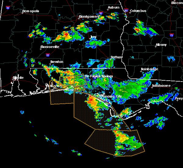 Radar Image for Severe Thunderstorms near Crestview, FL at 9/3/2018 5:16 PM CDT