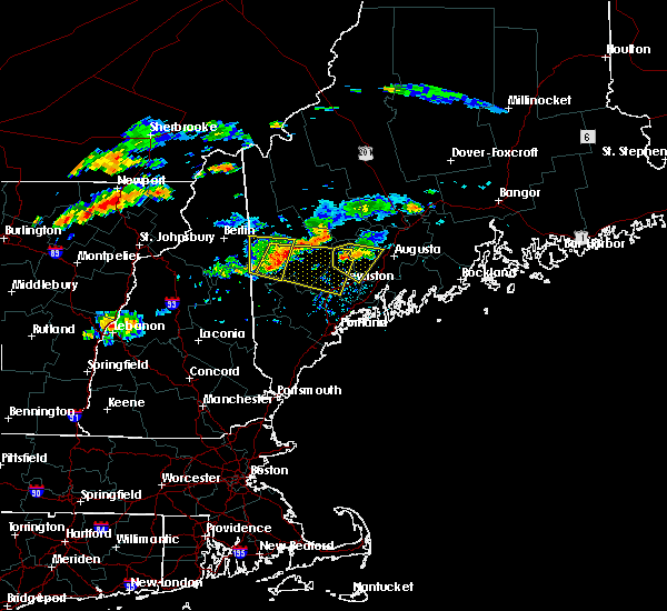 Radar Image for Severe Thunderstorms near Winthrop, ME at 9/3/2018 6:28 PM EDT