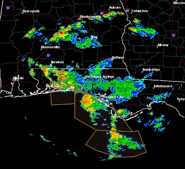 Radar Image for Severe Thunderstorms near Crestview, FL at 9/3/2018 5:34 PM CDT