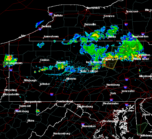 Radar Image for Severe Thunderstorms near Iola, PA at 9/3/2018 7:04 PM EDT