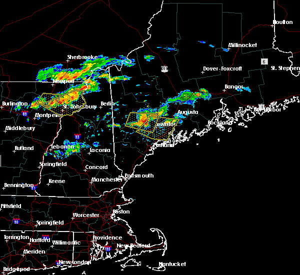 Radar Image for Severe Thunderstorms near Hallowell, ME at 9/3/2018 7:07 PM EDT