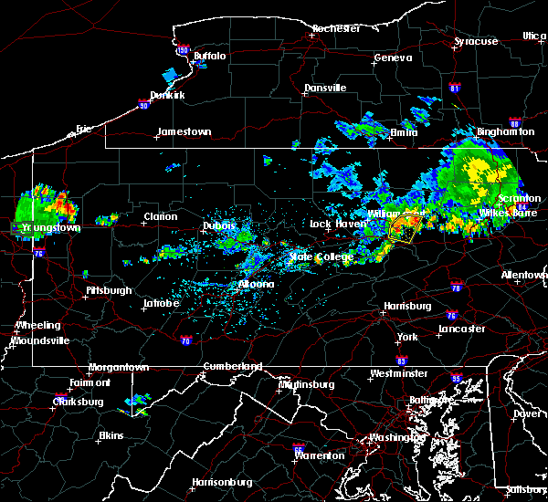 Radar Image for Severe Thunderstorms near Muncy, PA at 9/3/2018 7:38 PM EDT