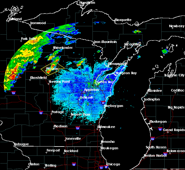 Radar Image for Severe Thunderstorms near Aniwa, WI at 9/4/2018 8:18 PM CDT