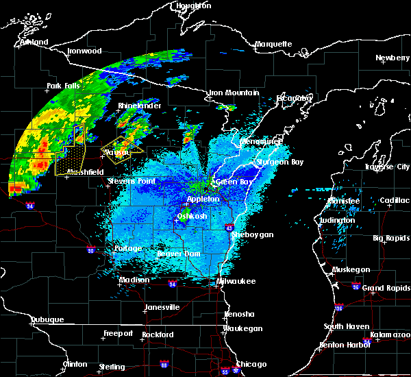 Radar Image for Severe Thunderstorms near Aniwa, WI at 9/4/2018 8:43 PM CDT
