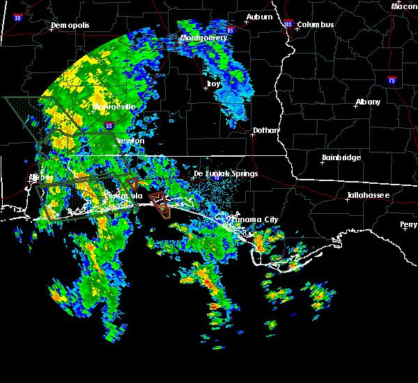 Radar Image for Severe Thunderstorms near Niceville, FL at 9/5/2018 3:36 AM CDT