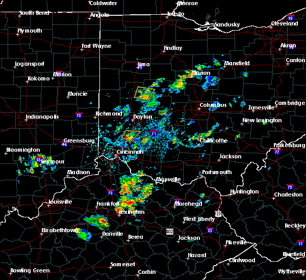 Radar Image for Severe Thunderstorms near Lebanon, OH at 9/5/2018 4:01 PM EDT