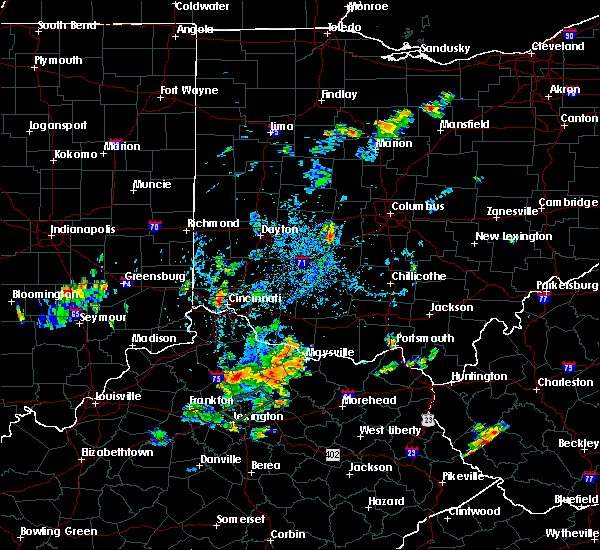 Radar Image for Severe Thunderstorms near Lafayette, OH at 9/5/2018 4:50 PM EDT