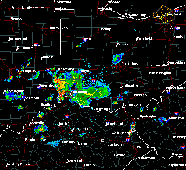 Radar Image for Severe Thunderstorms near Cincinnati, OH at 9/5/2018 7:06 PM EDT