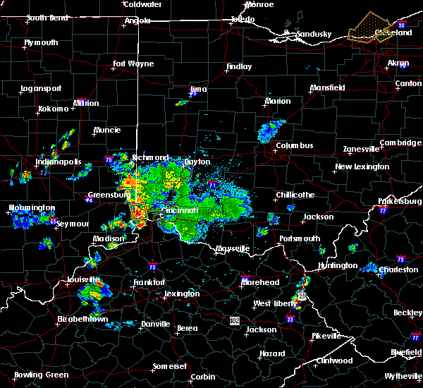 Radar Image for Severe Thunderstorms near Cincinnati, OH at 9/5/2018 7:16 PM EDT