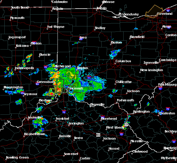 Radar Image for Severe Thunderstorms near Cincinnati, OH at 9/5/2018 7:28 PM EDT