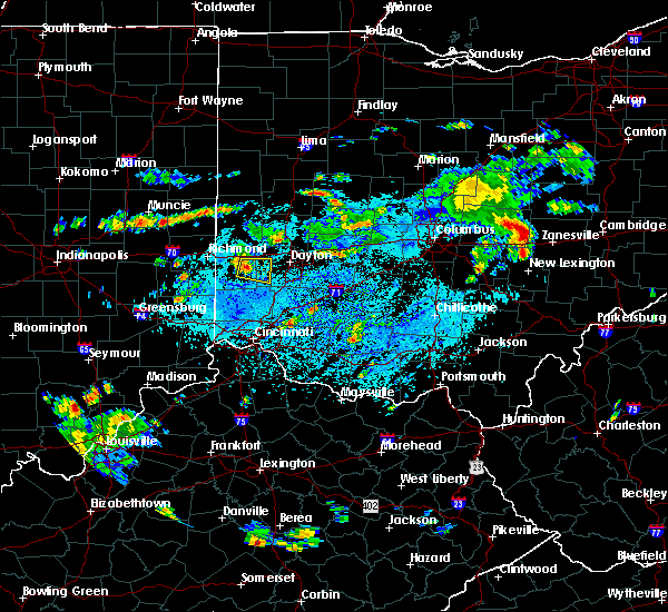 Radar Image for Severe Thunderstorms near New Lebanon, OH at 9/6/2018 1:24 PM EDT