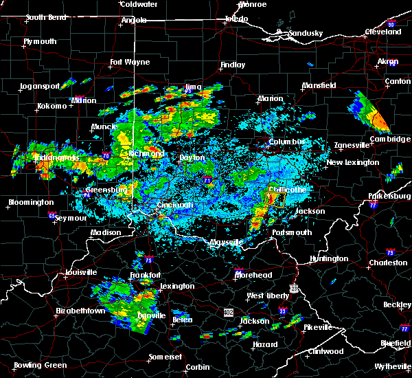 Radar Image for Severe Thunderstorms near Chillicothe, OH at 9/6/2018 4:02 PM EDT