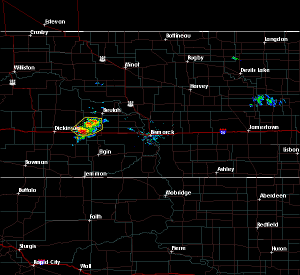 Radar Image for Severe Thunderstorms near Hebron, ND at 9/6/2018 5:52 PM MDT