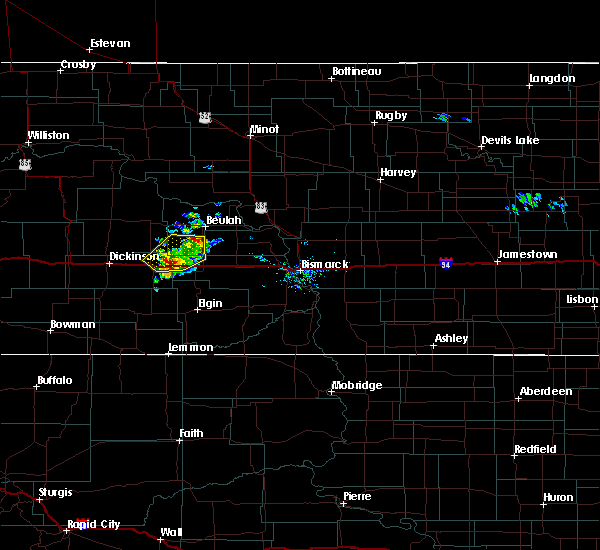 Radar Image for Severe Thunderstorms near Hebron, ND at 9/6/2018 6:01 PM MDT