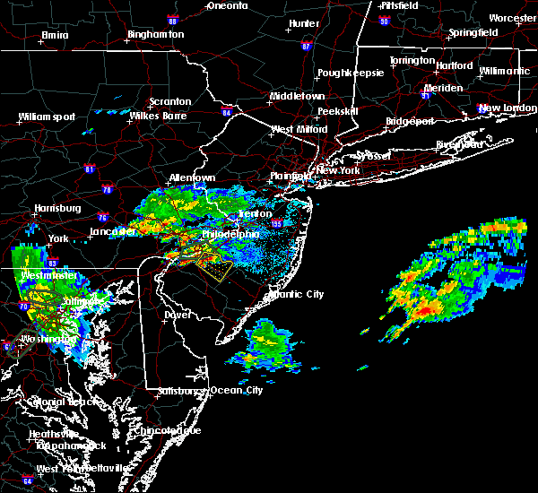 Radar Image for Severe Thunderstorms near Clayton, NJ at 9/7/2018 7:24 PM EDT
