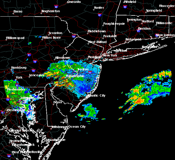 Radar Image for Severe Thunderstorms near Clayton, NJ at 9/7/2018 7:40 PM EDT