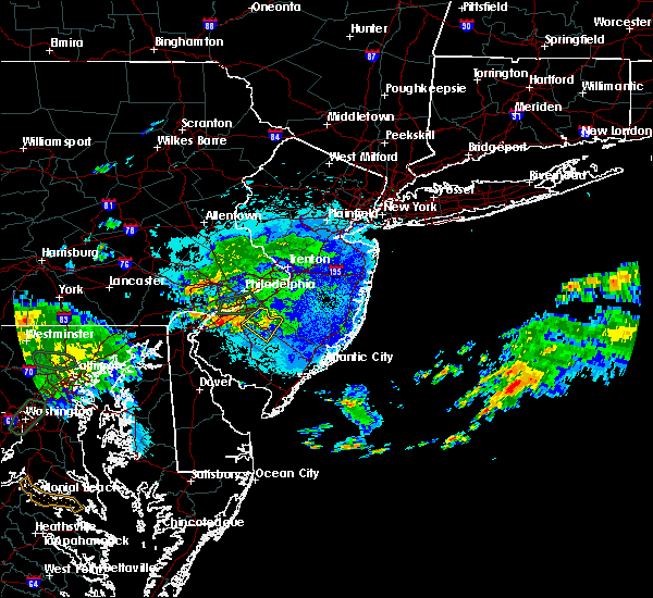 Radar Image for Severe Thunderstorms near Clayton, NJ at 9/7/2018 8:11 PM EDT
