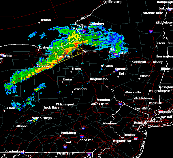 Radar Image for Severe Thunderstorms near Prattsburgh, NY at 6/8/2015 12:46 PM EDT