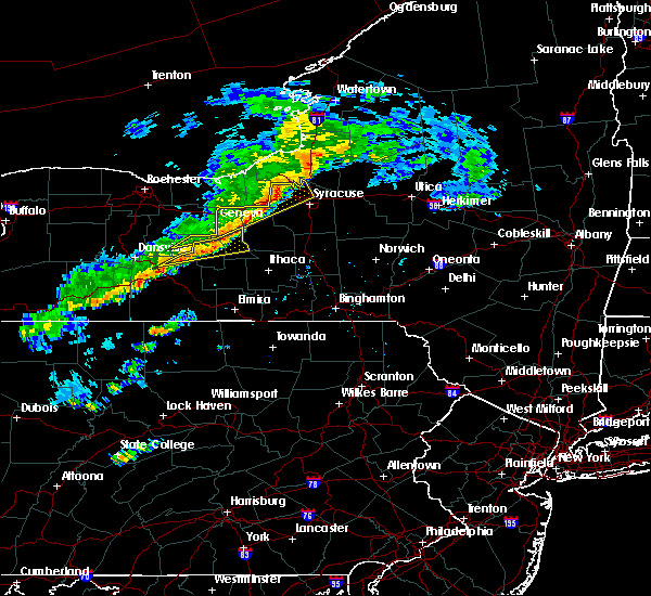 Radar Image for Severe Thunderstorms near Auburn, NY at 6/8/2015 1:02 PM EDT