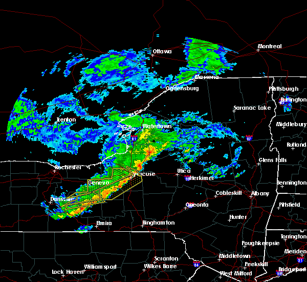 Radar Image for Severe Thunderstorms near Durhamville, NY at 6/8/2015 1:25 PM EDT