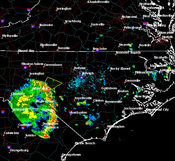 Radar Image for Severe Thunderstorms near Bennett, NC at 9/10/2018 6:03 PM EDT